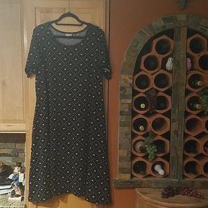 Lularoe Jessie Hearts Print Short Sleeve Dress